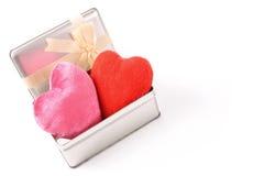 Hearts gift Stock Image