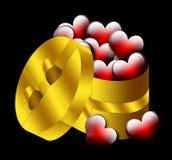 Hearts Gift, Valentine, Heart, Love Stock Image