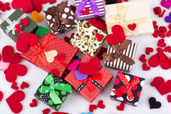 Hearts and gifts Royalty Free Stock Photography