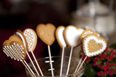 Hearts gingerbread Royalty Free Stock Photos