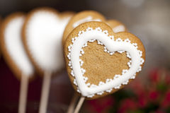 Hearts gingerbread Stock Images