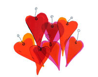 Hearts of glass. Royalty Free Stock Images