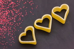 Hearts and glitters Royalty Free Stock Photo