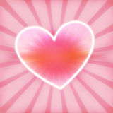 Hearts glow Stock Images