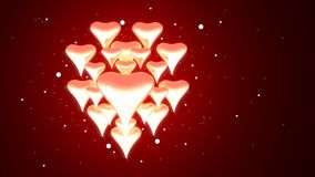 Hearts Glowing Royalty Free Stock Photo