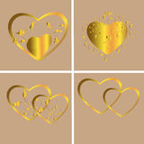 Hearts of gold Royalty Free Stock Image