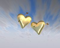 Hearts of Gold Stock Photos