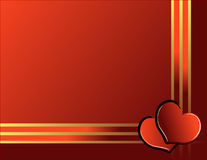 Hearts and golden ribbon Royalty Free Stock Image