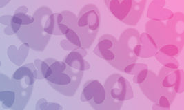 Hearts gradient background Stock Images