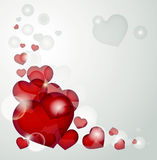Hearts on gray Royalty Free Stock Photos