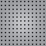 Hearts with grey background Stock Photos