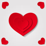 Hearts on grey background Stock Image