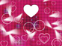 Hearts Grid Means Lightsbeams Of Light And Affection Stock Image