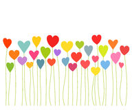 Hearts growing. Colorful hearts growing - Valentines concept. Vector illustration stock illustration