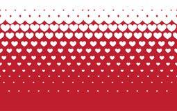 Hearts halftone background Stock Photos