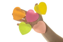 Hearts in hand Stock Image