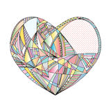 Hearts hand drawn vector background. Abstract stylized love illustration. Royalty Free Stock Images