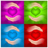 Hearts in hands Royalty Free Stock Images