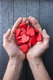 Hearts Hands Love Royalty Free Stock Photography