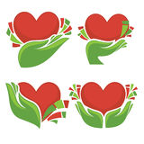 Hearts and hands Royalty Free Stock Photo