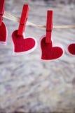 Hearts hanging Stock Photo
