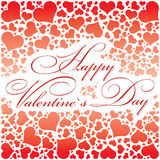 Hearts-Happy Valentines day. Hearts Card -Happy Valentines day Royalty Free Stock Images