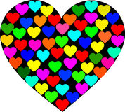 Hearts. A heart filled with multiple colour hearts Stock Image