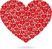 Hearts, heart from hearts, colored,  Royalty Free Stock Photos
