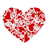 Hearts within heart vector Stock Photo