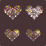 Hearts within heart vector Royalty Free Stock Photo