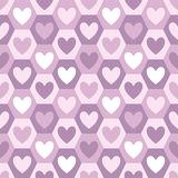 Hearts and hexagons seamless vector pattern Royalty Free Stock Photography