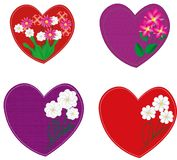 Hearts for the holiday Valentine`s Day royalty free illustration