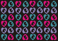 Hearts and Horses Wallpaper Background Royalty Free Stock Images
