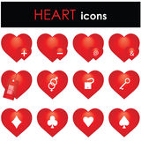 Hearts icon Stock Photography