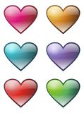 HEARTS ICON SET Royalty Free Stock Photo
