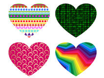 Hearts icon set Stock Images