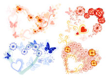 Hearts icon set. Beautiful vector hearts for your design. Vector Stock Photos