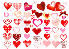 Hearts icon set Royalty Free Stock Image