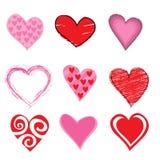 Hearts Icon Set Stock Photos