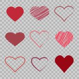 Hearts icon set Royalty Free Stock Photography