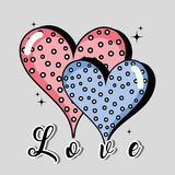 Hearts icon to love and passion design. Vector illustration Royalty Free Stock Image