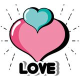 Hearts icon to love and passion design. Vector illustration Stock Photography
