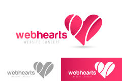 Hearts icon vector logo together Royalty Free Stock Photo