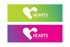 Hearts icon vector logo together Stock Photos