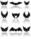 Hearts icons Royalty Free Stock Image
