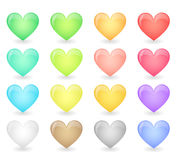 Hearts icons Stock Images