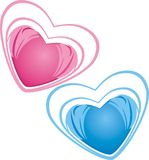 Hearts. Icons Stock Photo