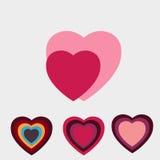Hearts-icons  illustration Royalty Free Stock Photo