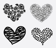 Hearts icons Royalty Free Stock Image