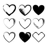 Hearts icons Stock Photo